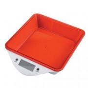 Кухненски кантар Zephyr ZP 1651 LS, дигитален, до 5kg., точност до 1гр, LCD дисплей, aвтоматично изключване, индикатор за претоварване, червен