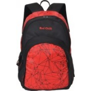 Red Chilli 15.6 inch Laptop Backpack(Red, Black)
