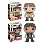 Funko Set Pop 2 Han Solo Luke Skywalker Galactic Convention