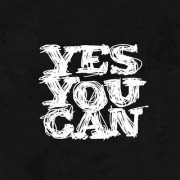 5 Ace yes you can 9 wall sticker poster motivational and inspirational(size:12x18 inch) multicolo