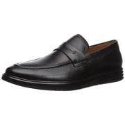 Driver Club USA Zapatillas de Piel Genuino para Hombre, Fabricadas en Brasil New Haven, Negro (Black Grainy), 10