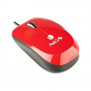 Mouse optic Flavour NGS, 3 butoane, USB, Rosu