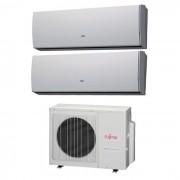 Fujitsu Condizionatore Dual Split Lu 9000+9000 9+9 Btu Inverter Aoyg18lat3 A++