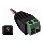 L.S.C. Isolanti Elettrici Adattatore Da Spina 3,5mm Stereo A Morsetto 2 Poli