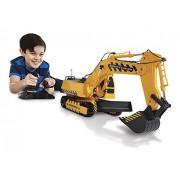Kid Galaxy Mega Construction 49MHz Remote Controlled Bull Dozer Cum Excavator Vehicle, Yellow and Black