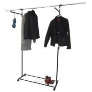 Luxus Kleiderwagen Kleiderständer Rollgarderobe, fahrbar, mit Seitenhanger ausziehbar