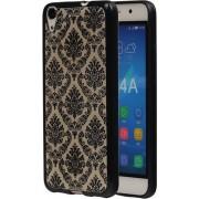 Zwart Brocant TPU back cover hoesje voor Huawei Honor Y6 / 4A