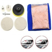 DIY Crafts Scratch Repair Remover Glass Polishing Kit (40 Gram Cerium Oxide 3 Felt Pad)(Pack of 9 Pcs)