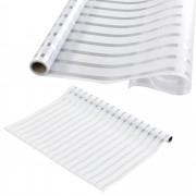 [casa.pro]® Fólia na sklo - statická - 75cmx3m - imitácia mliečneho skla – prúžky