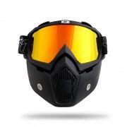 Titan Masca Moto + Ochelari Moto Detasabili pentru castile Open Face cod4654