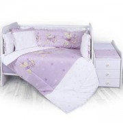 Бебешки спален комплект Lorelli Тренд Ранфорс, Зайчета лилав, 0746882