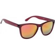 Ted Smith Aviator Sunglasses(Grey, Orange)