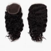 Rapunzel® Extensions Naturali Lace Closure Bouncy Curl 1.2 Black Brown 30 cm
