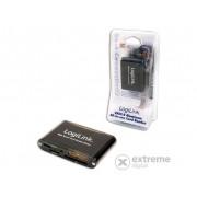 Logilink USB 2.0 aluminijumski čitač kartice, crni