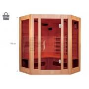 QMED QMSA3C - Sauna cu infrarosu de interior cu 3 sectiuni - coltar