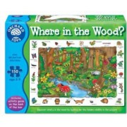 Puzzle in limba engleza In padure 150 piese WHERE IN THE WOODS
