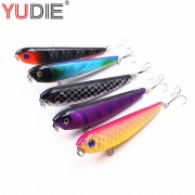 1pcs 8.5cm 8.5g Top Water Hard Pencil For Sea Carp Fly Fishing Spinner Bait Accessories Jig Hooks Tool Wobblers Fish Sport lures