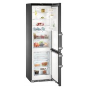 Combina frigorifica Liebherr CBNbs 4835, 343 L, No Frost, Display, Control electronic, Alarma usa, BioFresh, HolidayMode, SuperCool, H 201 cm, A+++, BlackSteel