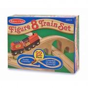 Tren lemn si Circuit 8, Melissa and Doug, 22 piese