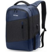 AirCase 15.6 inch Laptop Backpack(Blue, Black)