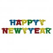 Banner decorativ pentru petrecere 1.8 m, happy new year, amscan 550176, 1 buc