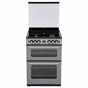 New World 600TSIDOm Silver Gas Cooker with Double Oven