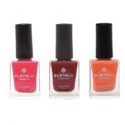Mauve Taupe Inflamed Rose and Rustic Decay 9.9ml Each Elenblu Matte Nail Polish Set of 3 Nail Polish