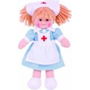 Papusa BigJigs Nurse Nancy Multicolor
