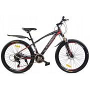 """Rower Górski MTB Carbon 26"""" Rocznik 2019 Grafitowo-Czerwony"""