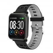 P11 1.3 inch Color Screen Smart Bracelet Fitness Tracker Heart Rate Blood Pressure Monitor - Grey
