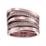 Michael Kors Brilliance Stacked Pave Ring Rose Gold