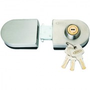 Spider Glass Door Lock Oval Lock with SS Finish One Side Key One Side Knob( GDL02R)