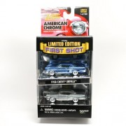 1958 Chevy Impala * Limited Edition First Shot * 2000 Johnny Lightning American Chrome Collection Die Cast Vehicle 2 Car Collection (1 Of Only 7,500 Sets)