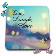 ToryAnne Collections Expressions - Live, Laugh, Love expression, blue, purple, pink, and gold lights - 10x10 Inch Puzzle (pzl_164014_2)