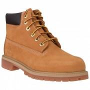 Timberland Kid`s 6Inch Premium WP Boot Stivali per il tempo libero (3,5, marrone/arancione/beige)