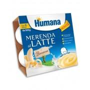 Humana Italia Spa Humana Merenda Al Latte - Banana 4 Vasetti Da 100g