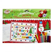 "RSW Christmas Scene ""Make Your Own Mosaic Picture and Frame"" - 2 Pictures to Make, with Mosaic and Other Stickers"