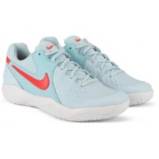 Nike WMNS NIKE AIR ZOOM RESISTANCE Tennis Shoes For Women(Blue)