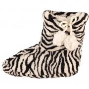 Geen Zwart/witte zebra print meisjes pantoffels