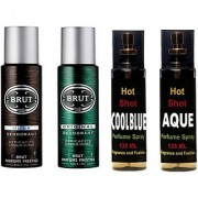 Brut Set Of Brut Deo And Perfume Of Fragrance And Fashion Combo Set (Set Of 4)