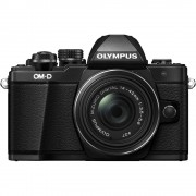 Olympus OM-D E-M10 Mark II Aparat Foto Mirrorless 16MP MFT Full HD Kit cu Obiectiv EZ-M 14-42mm F3.5-5.6 IIR Negru