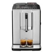 Espressor automat Bosch VeroCup 300 TIS30321RW, 1300 W, 15 bar, 1.4 l, rasnita ceramica , dispozitiv spumare lapte MilkMagic Pro, AromaDouble Shot, filtru Brita integrat (Negru/Argintiu)