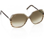 Tod's Over-sized Sunglasses(Brown)