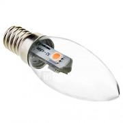 0.5W E14 LED-kaarslampen C35 3 SMD 5050 15-30 lm Warm wit 2800K K Decoratief AC 220-240 V