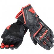 Dainese Motorradschutzhandschuhe, Motorradhandschuhe lang Dainese Carbon D1 Lederhandschuh lang schwarz/rot M rot