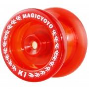 Yoyo Profesional (Tipo Transparente) MAGICYOYO K1 Spin ABS - Rojo