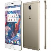 "Oneplus 3T A3010 4G LTE Teléfono Móvil Android 6.0 Quad Core Snapdragon 821 6GB RAM 64GB ROM 5.5 ""FHD 16.0MP 3400mAh Oro"