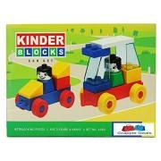 GRAPPLE DEALS Kinder Blocks Car Set - Interlocking Architectural Set For Kids.(Multicolor)