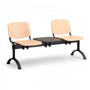 Kovo Praktik Dřevěné lavice ISO II, 2-sedák + stolek, černé nohy