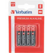 Verbatim Batterier: Premium, AAA (LR3), 1,5V, Alkaline, 4-pack